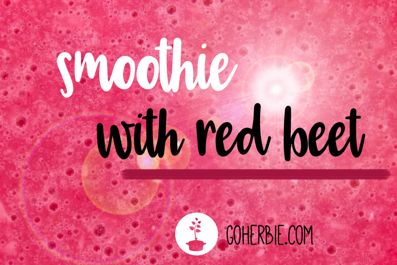 Smoothie with red beet