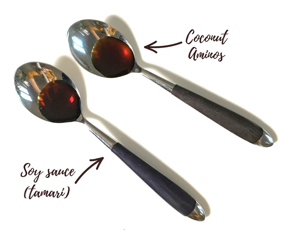 Coconut aminos vs soy sauce, tamari