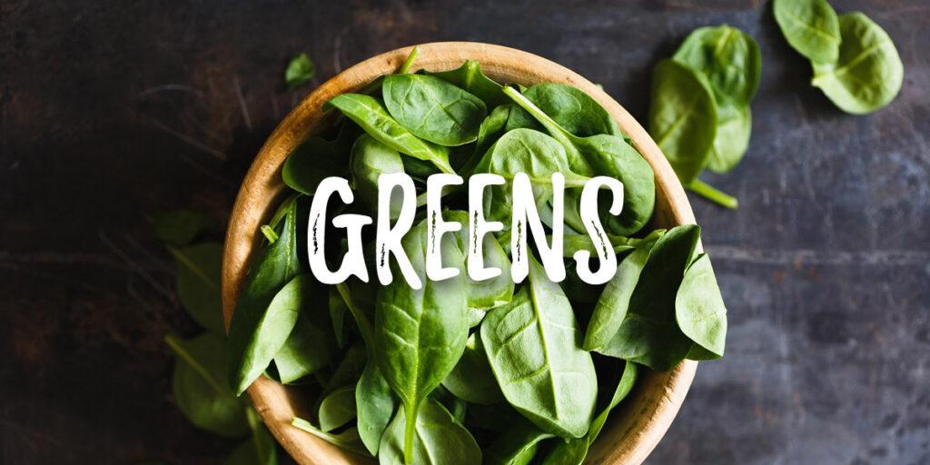 Vegan food greens