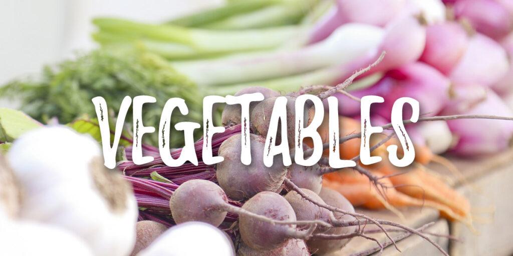 Vegan food list - vegetables