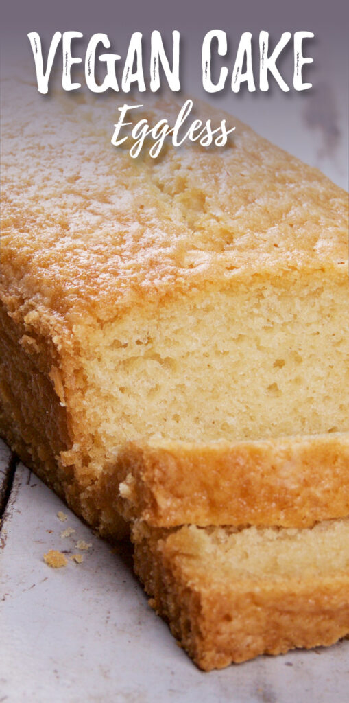 Vegan cake vanilla eggless