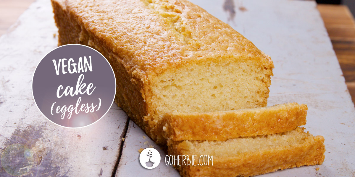 Easy vegan vanilla cake (eggless recipe)