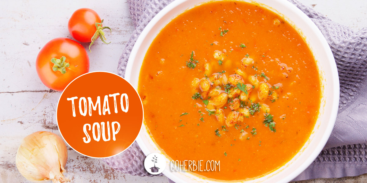 Tomato soup – with seasoned white beans