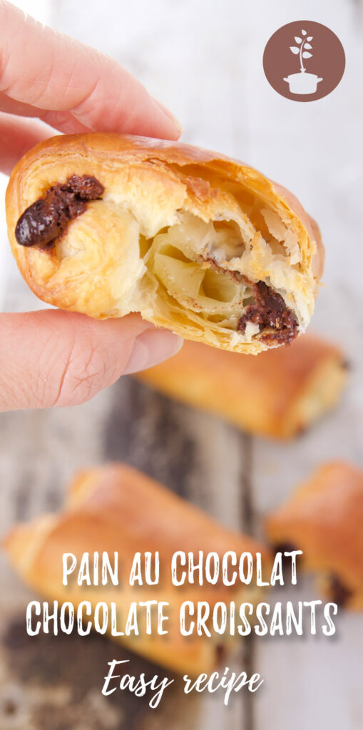 pain au chocolat - chocolate croissants - easy vegan recipe