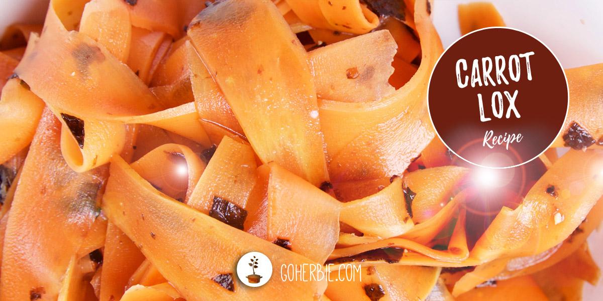 Carrot lox – vegan smoked salmon (recipe)