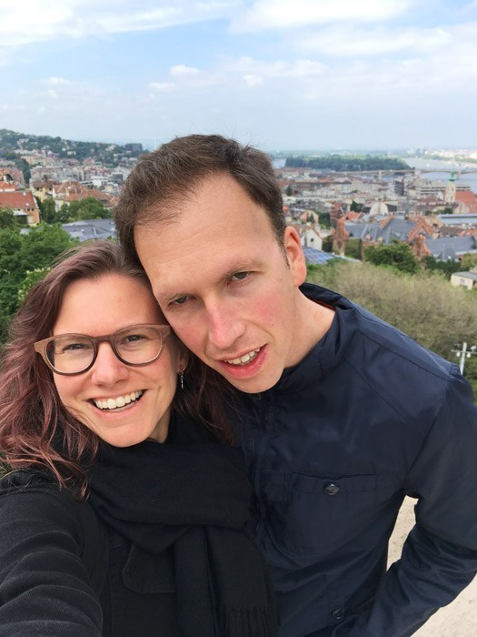 Elke and Jordy in Budapest