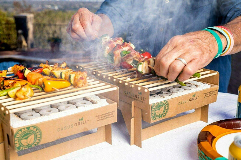 Biodegradable grill bbq