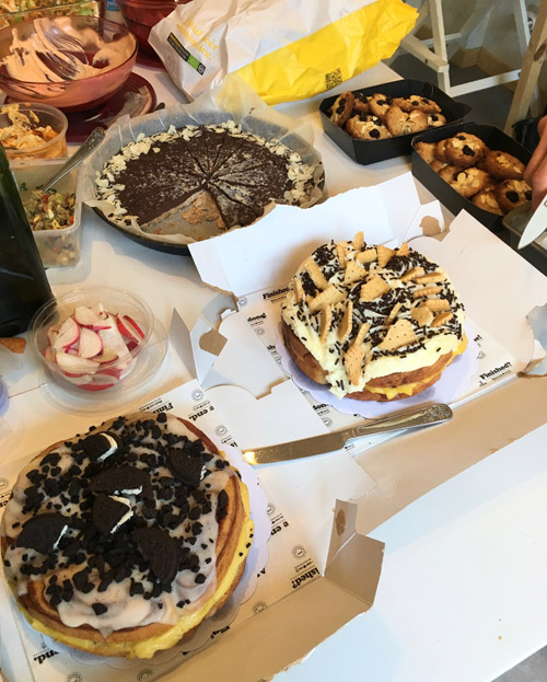 Potluck with desserts