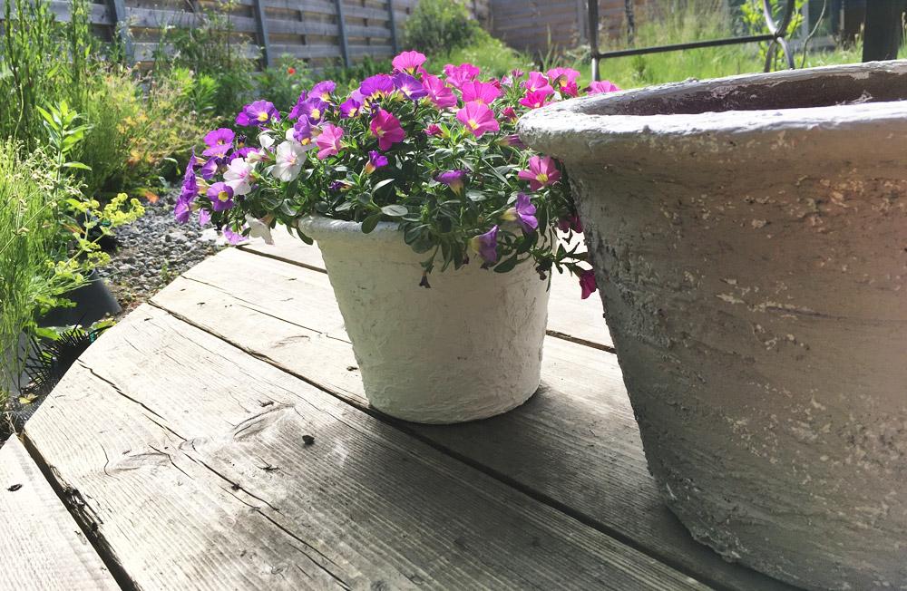 Tutorial old flower pot design faux concrete