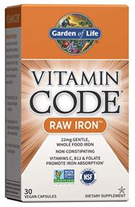Raw vegan iron supplement